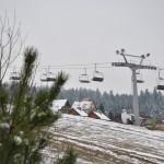 Willa Alpina – widok z trasy narciarskiej